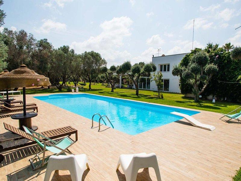 Villa Moderna con piscina tra gli ulivi con wifi, casa vacanza a Vernole