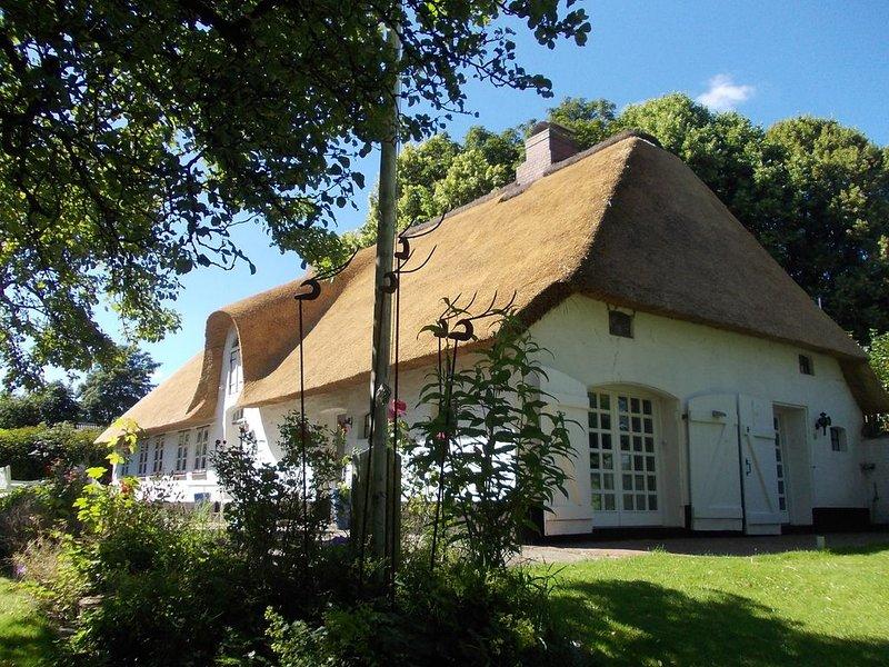 Ferien unter Reet im Denkmal, 129 qm, WLAN, Sauna, Kamin, Ofen, großer Garten, casa vacanza a Bohmstedt