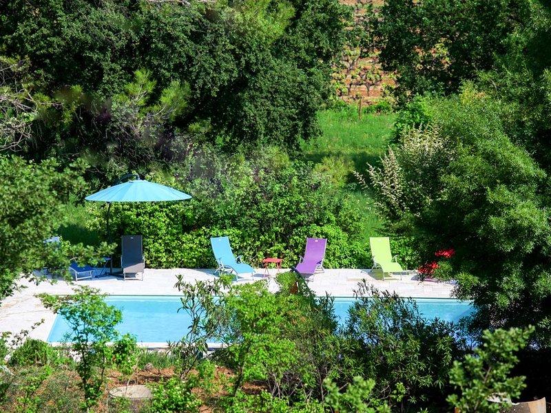 'La premièe fois', charmant 2 pièces 3 étoiles , magnifique vue sur les vignes, holiday rental in Figanieres