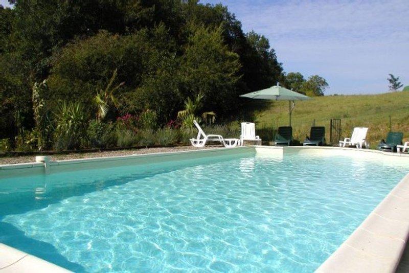 Joli gite à Sarlat côté campagne rénové 2018 avec piscine chauffée 29°sous abri), location de vacances à Sarlat la Canéda
