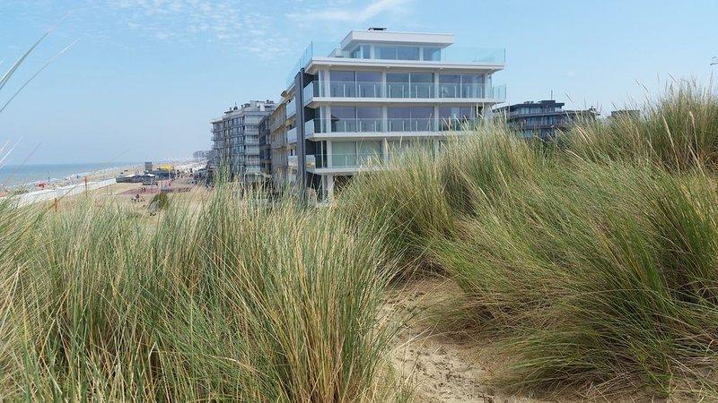 Appartement face à la mer avec balcon, très lumineux avec garage, holiday rental in Koksijde