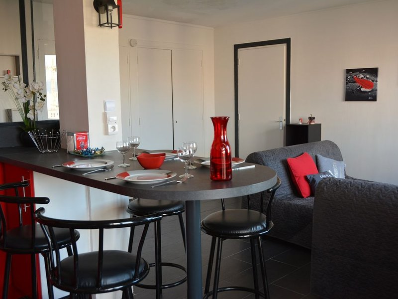 Appartement 50 m² idéalement situé wifi, parking, balcon, location de vacances à Rhone