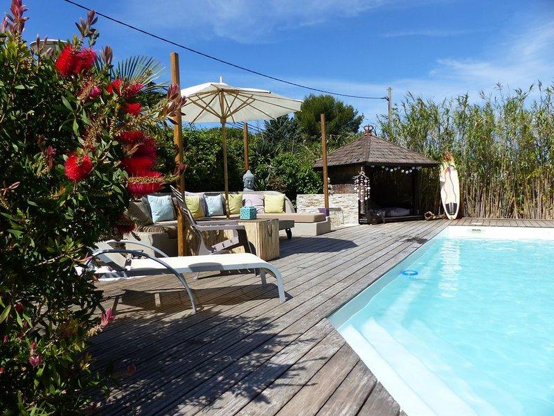 Villa Architecte, climatisée,calme,piscine privée, jardin bien être (Cassis,Aix), casa vacanza a Aubagne