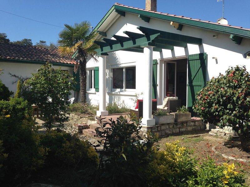 L'Hermitage à Anglet : maison avec jardin près des plages et de la forêt, location de vacances à Anglet