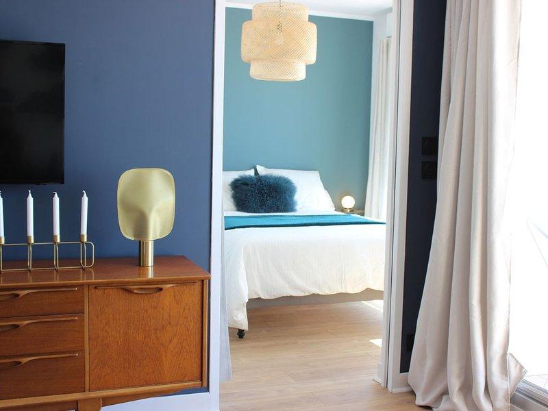 VUE MER EXCEPTIONNELLE! IDEAL COUPLE POUR SEJOUR RELAX   RECONFORTANT, vacation rental in Gouville-sur-Mer