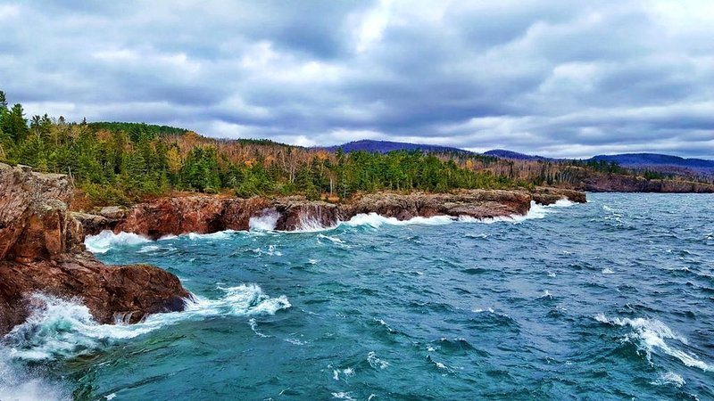The view from Shovel Point in nearby Tettegouche Park is worth the short hike