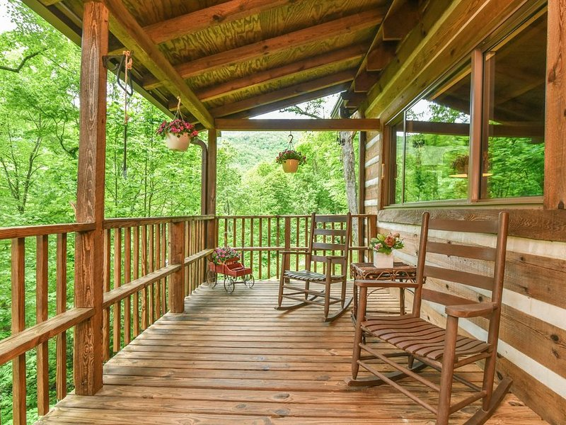 NEW Log Cabin, Secluded, Close to Town, Hot, WiFi, Fireplace, Pet Friendly, casa vacanza a Fairview