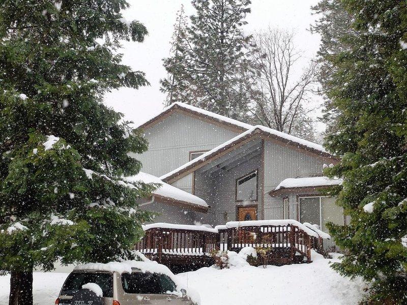 Nous avons même parfois de la neige en hiver.