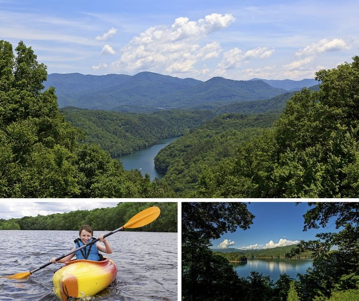Fontana Lake Cabin w/ Private Dock , Fishing Pond, Huge Covered Porch & 50+ Acre, alquiler de vacaciones en Robbinsville