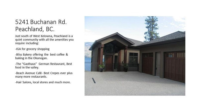 Winter Luxury Lakefront Property Peachland, BC., alquiler de vacaciones en Peachland