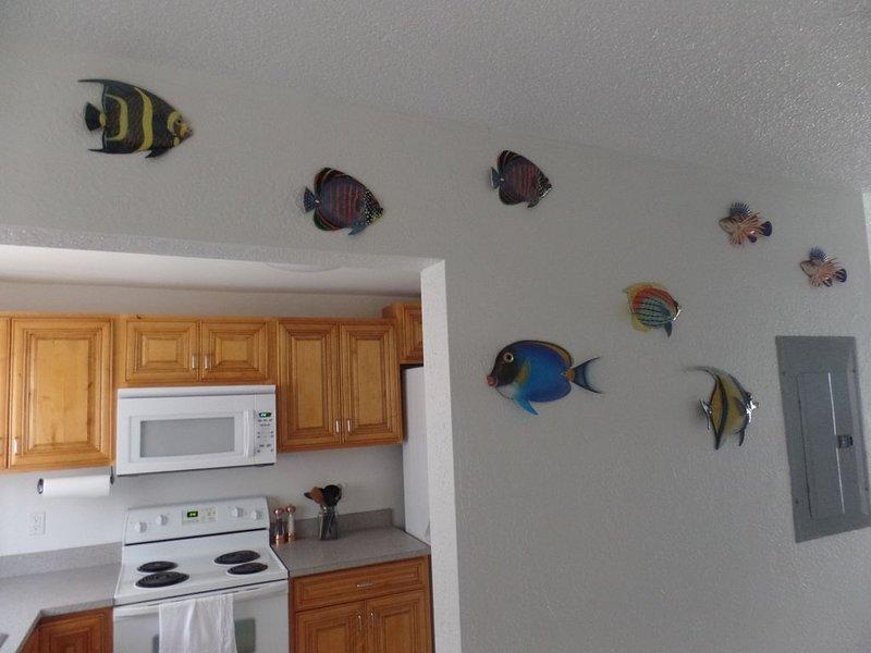 Wenn Sie die Haustür betreten, erwarten Sie die tropischen Fische