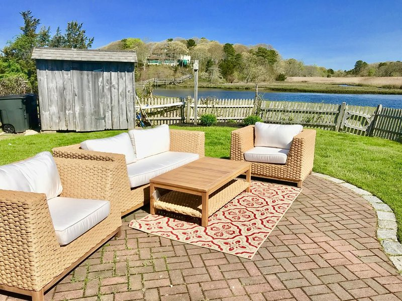 NEW for 2019 -- outdoor lounging means drinks by the water after the beach