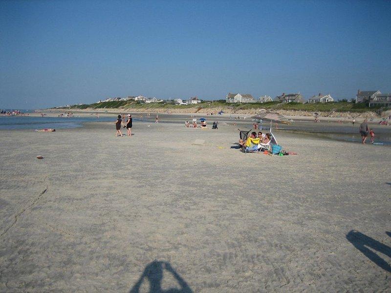 Mayflower Beach bei Ebbe - jede Menge Platz zum Spielen!