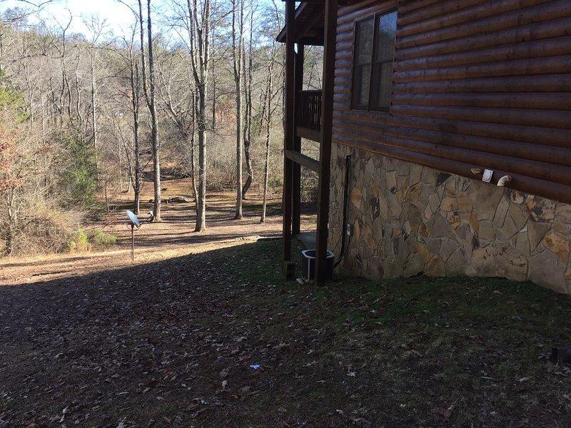 SIde of Cabin / Back Yard