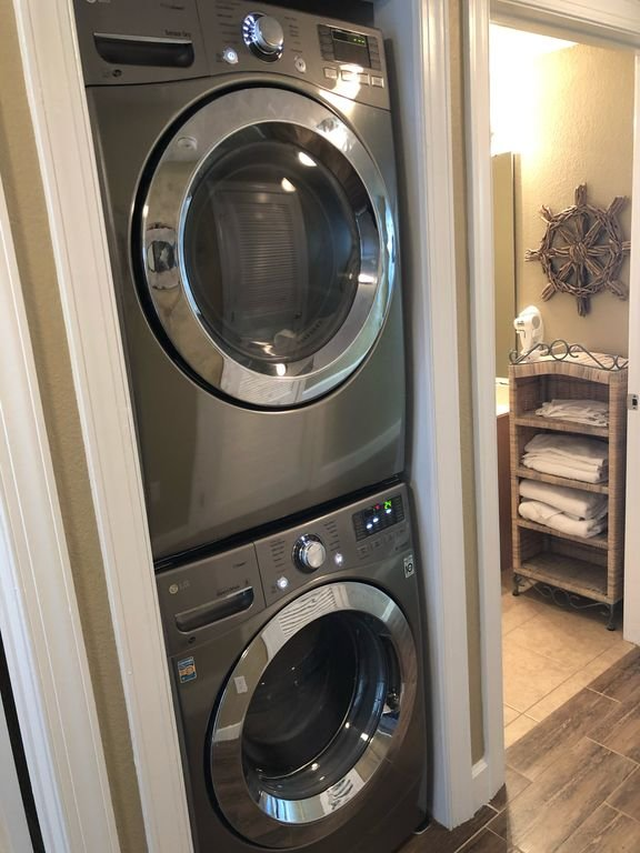 Full size, front load washer/dryer