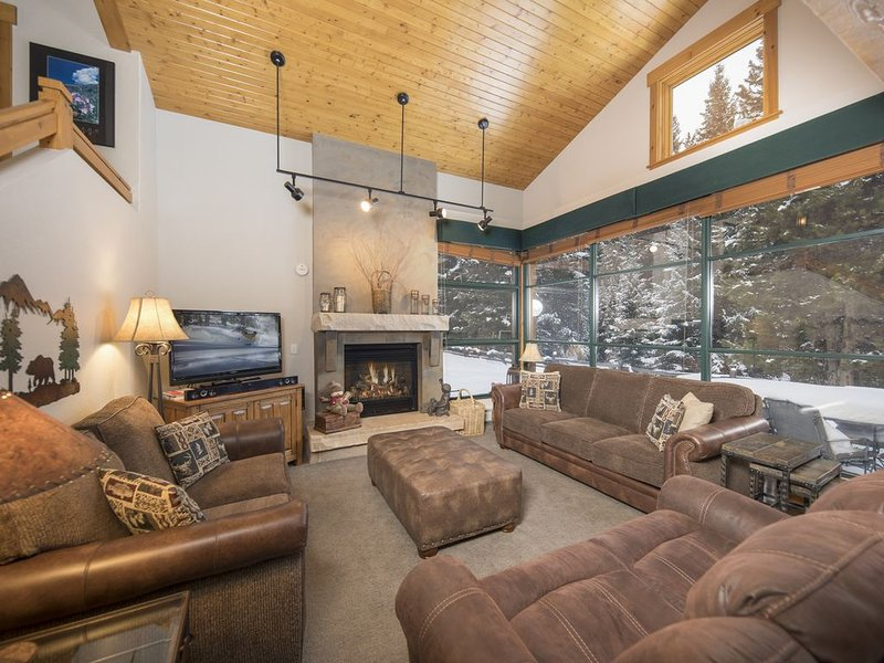 Incredible Views with Cozy Lodge feel. Easy ski shuttle or walk to River Run., vacation rental in Keystone