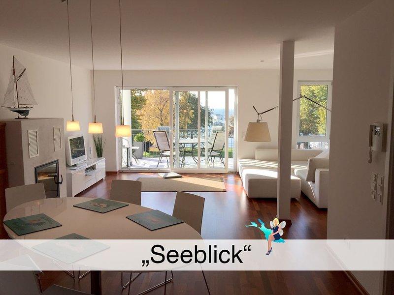 Luxuriöse Wohnung in erster Seereeihe mit großem Südbalkon und Blick auf den See, holiday rental in Wasserburg