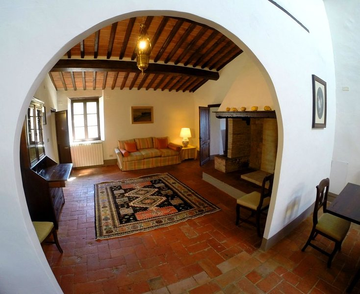 Wonderful apartment in the heart of Chianti Classico sorrounded by vineyards, location de vacances à Vagliagli