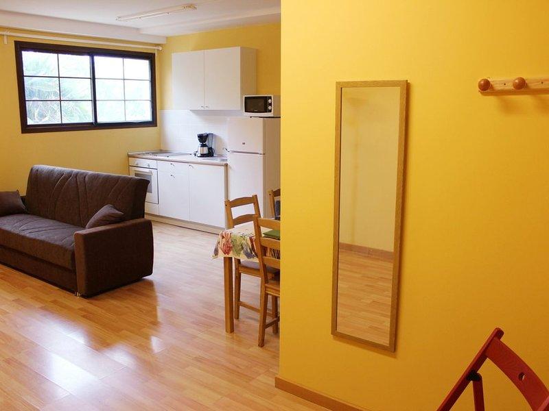 Confortable Apartamento rural rodeado de jardines, frutales y tranquilidad., aluguéis de temporada em Moya