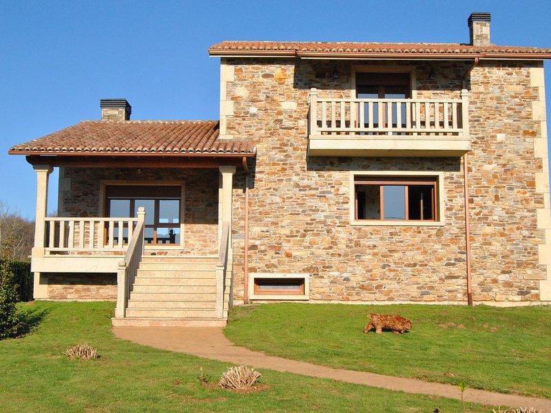 Casa Rural Loisiana, 4 hab, 8 ps máx. 15min de Santiago & 150m Camino de Santiag, alquiler de vacaciones en Melide