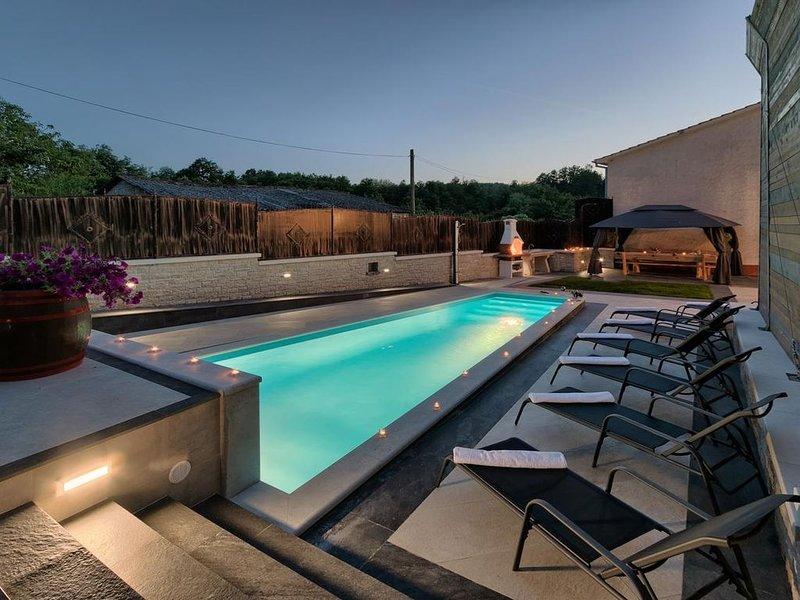 Villa Patrick, private pool, 8-10 people, free WiFi, alquiler vacacional en Kircija