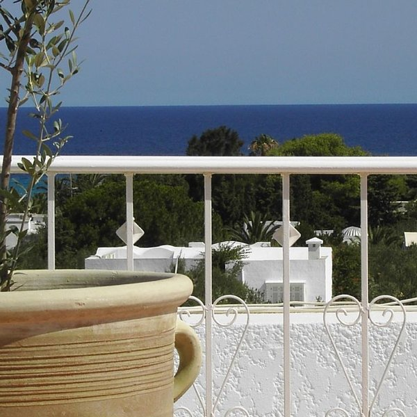 STUNNING APARTMENT, 2 BEDROOM, SEA VIEW TERRACE WITH BBQ, NEAR HAMMAMET,TUNISIA, holiday rental in Hammamet