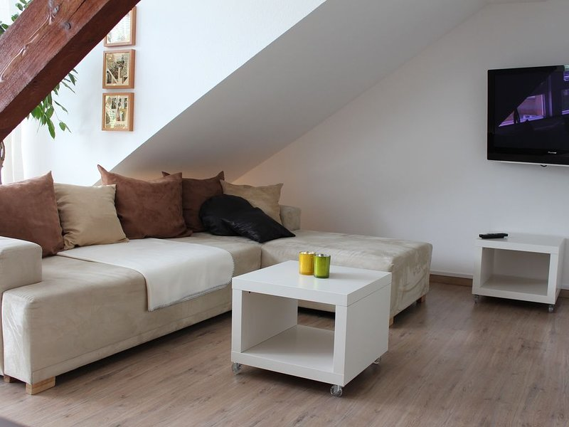 Living area with additional sofa bed
