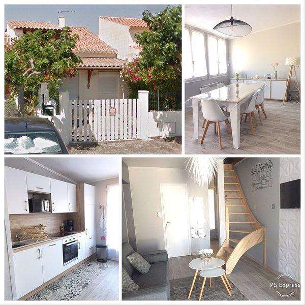 Villa T4 - 150m de la plage  - jardin - St Pierre La Mer - meublé de tourisme 3*, alquiler vacacional en Saint-Pierre-la-Mer
