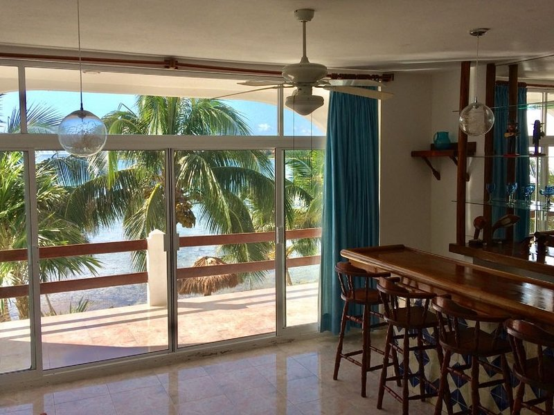 Luxury ocean front double condo in La Sirena Akumal  - w/ new cleaning protocol, holiday rental in Akumal