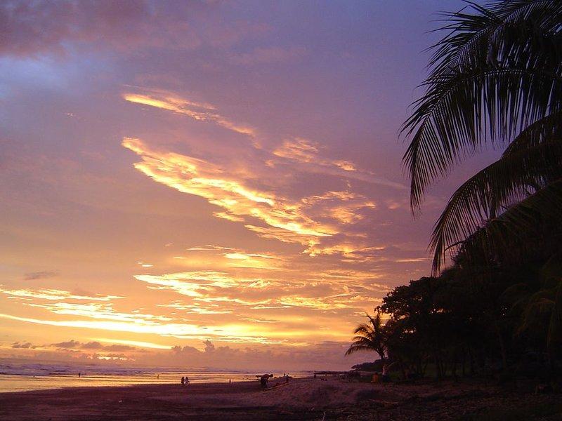 Sunset at Playa Carmen...