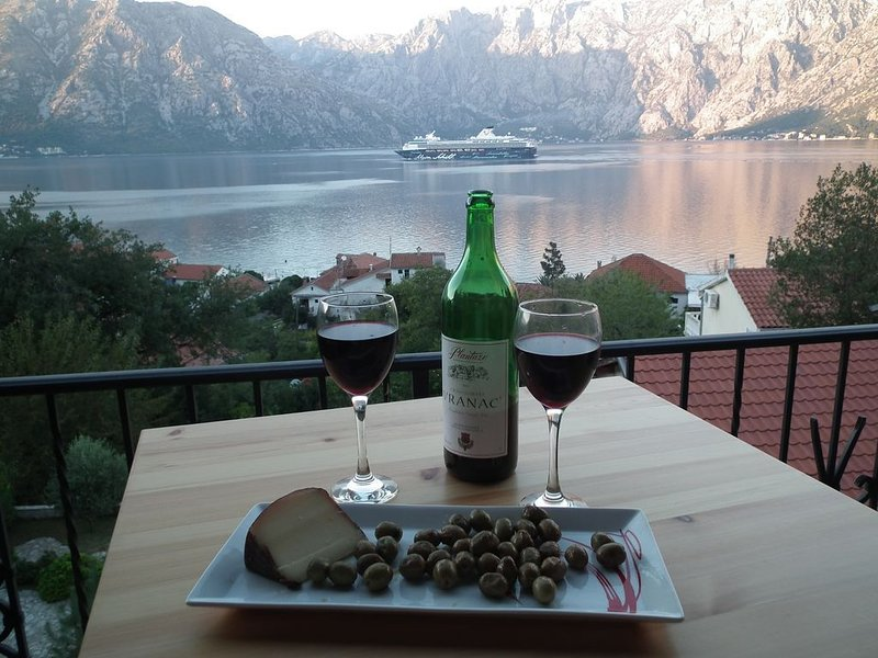 Penthouse with stunning views across Kotor Bay, vacation rental in Prcanj