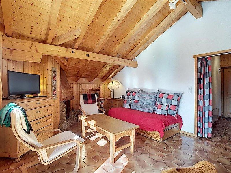 Sympathique appartement de 2 pièces aux Combles d'un petit immeuble situé proche, location de vacances à Verbier