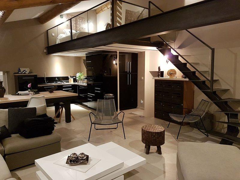Mas avec SPA privatif au milieu des vignobles et lavandes, au pied des collines, casa vacanza a Le Pegue