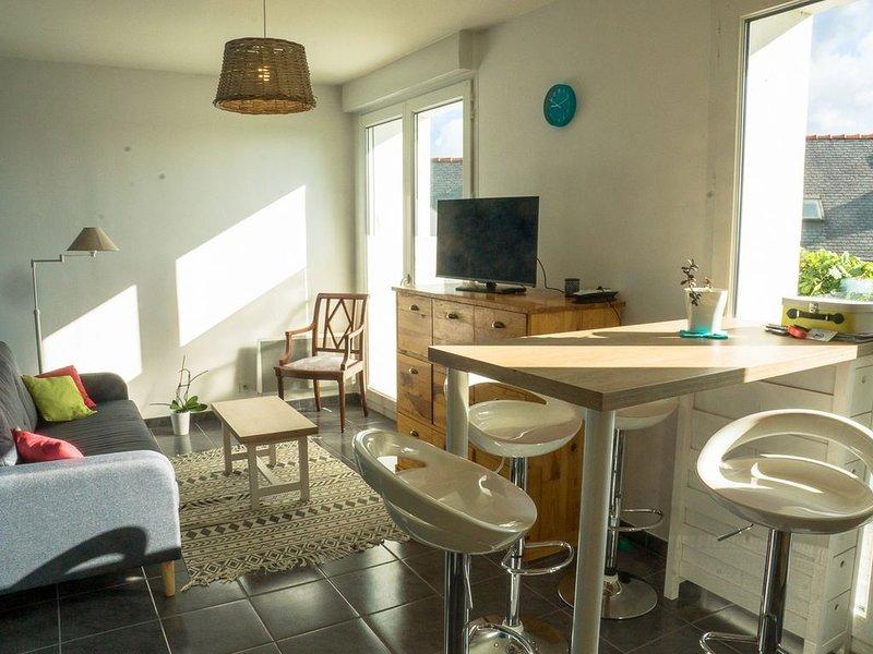 Appartement à Morgat, terrasse,  au pied de la plage – semesterbostad i Crozon