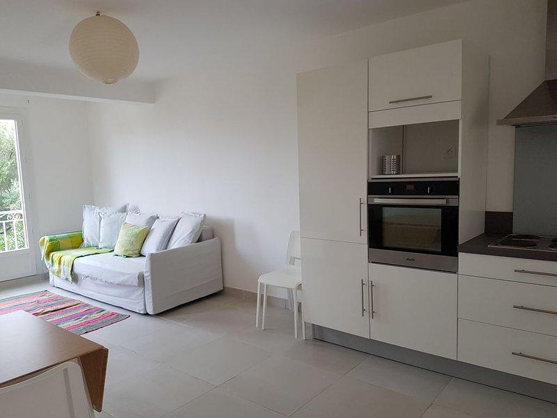 En pleine nature, superbe appartement climatisé avec terrasse au RDC d'une villa, vakantiewoning in Calvi