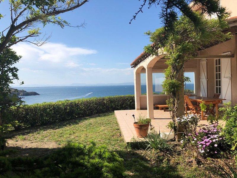 Collioure : Villa avec piscine et superbe vue mer !, alquiler de vacaciones en Port-Vendres