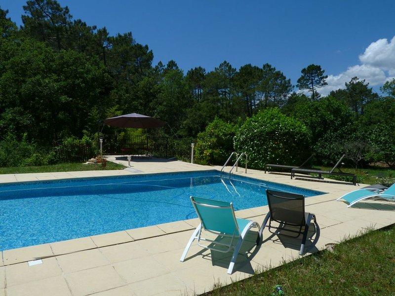 Fayence/160m²/5000m²/4 chambres/Grande Piscine/Cuisine d'été, alquiler de vacaciones en Tourrettes