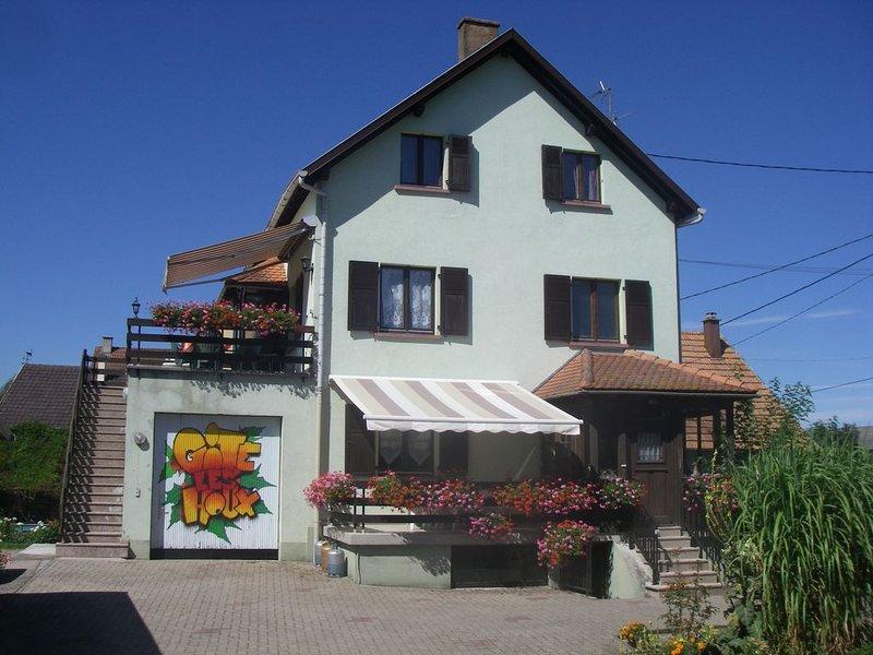 Les houx vous accueille dans la bonne humeur avec un pot d' amitié, vacation rental in Ebersmunster