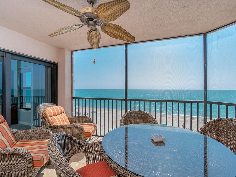 Updated direct Gulf front three bedroom condo on Manasota Key, vacation rental in Englewood