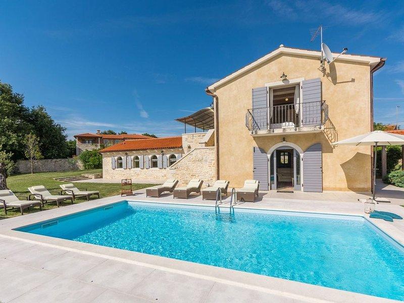 Lussuosa villa con piscina privata, biliardo, freccette e trampolino., holiday rental in Zminj