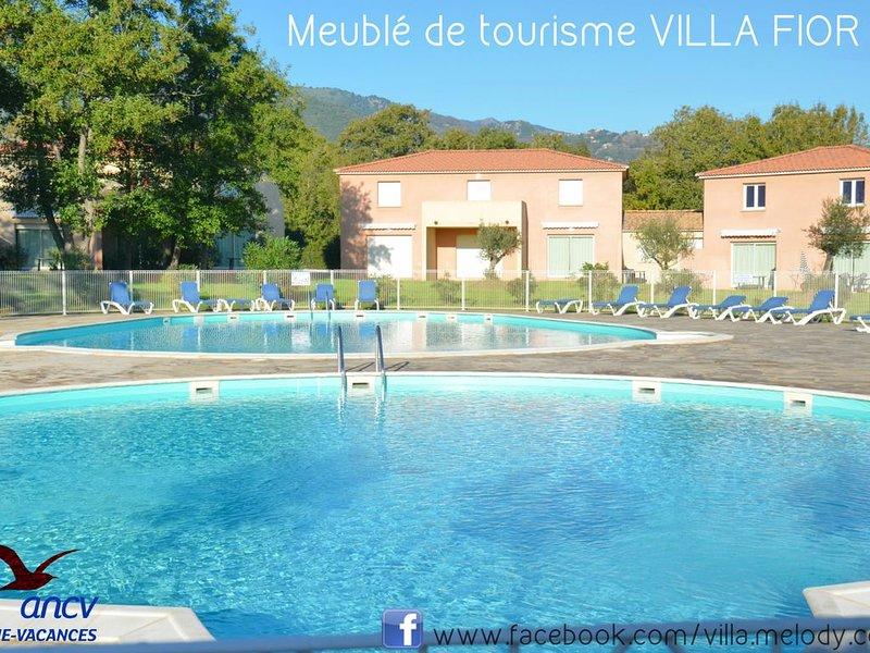 Villa 3* 62m², 2Ch, Résidence Fermée, Piscines, Wi-fi , Parking, Calme 800m Mer, holiday rental in Pietra-di-Verde
