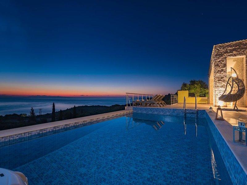 Villa Nisaki, Agios Nikolaos, Zakynthos, vacation rental in Volimes