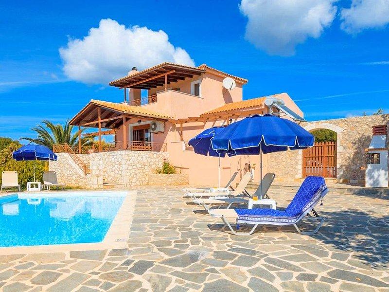Villa Yeraki: Large Private Pool, Sea Views, A/C, WiFi, vacation rental in Assos