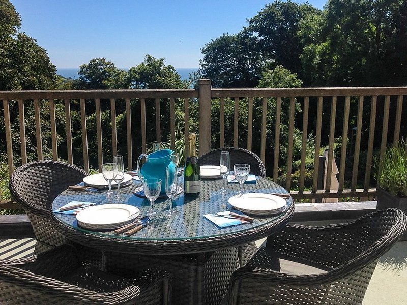 Excellent location, south facing balcony, private patio and designated parking, vacation rental in Salcombe