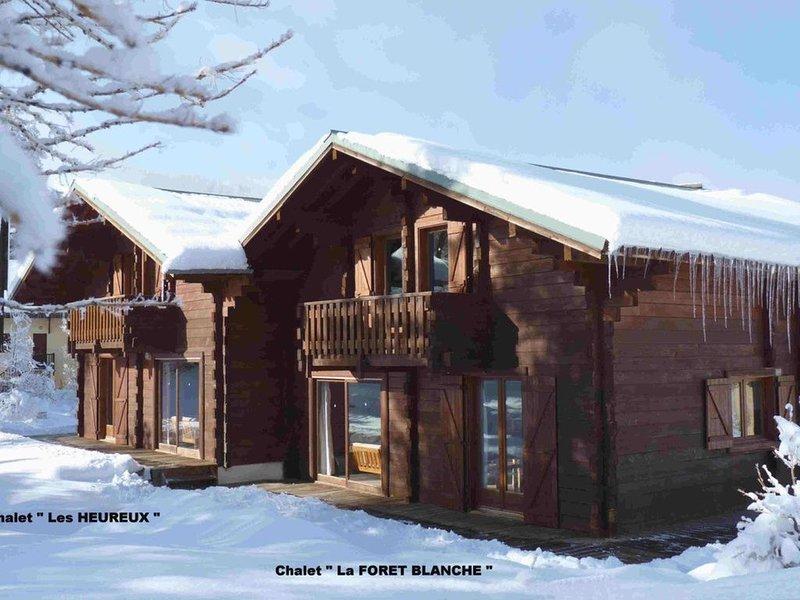 ' La foret Blanche' Véritable chalet chalet en bois, holiday rental in Risoul