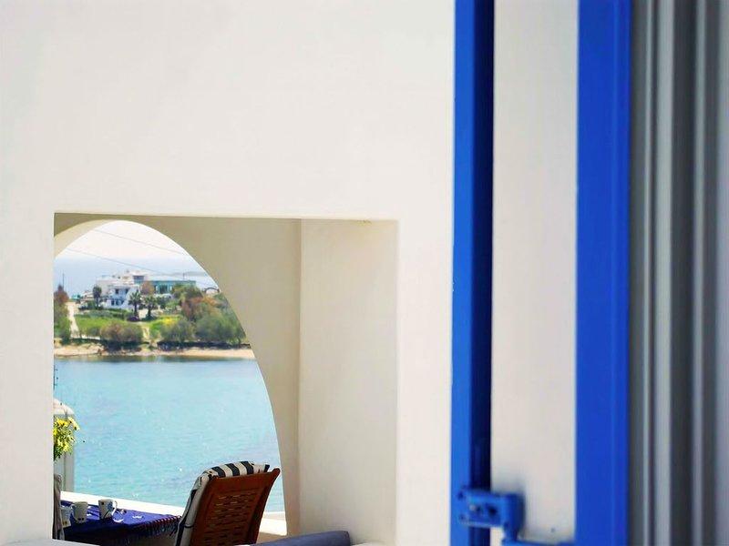 2 floor Maisonette, 1 minute from the wonderful Logaras beach, holiday rental in Nea Chryssi Akti