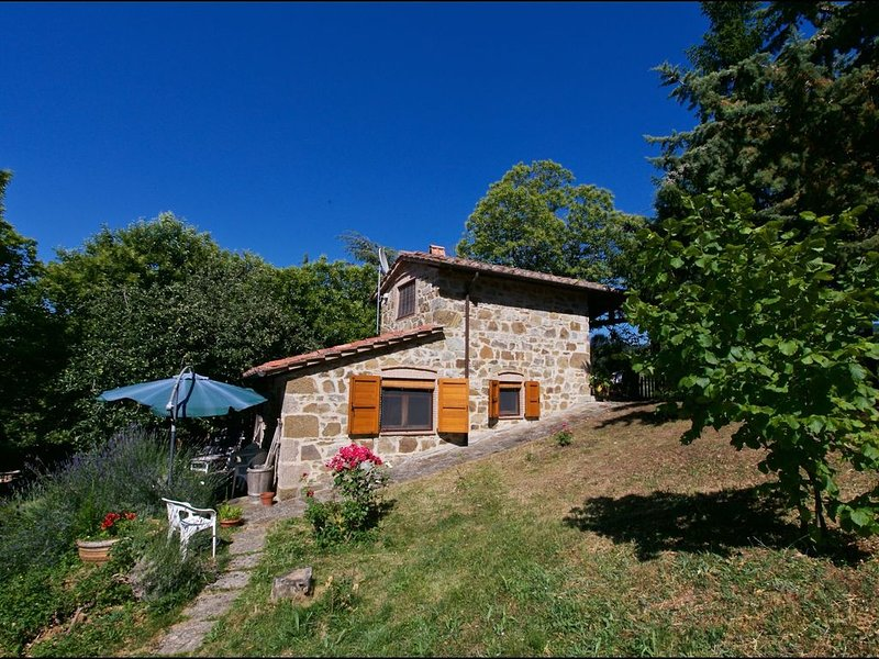 Typical little Italian property in the middle of fruit trees., location de vacances à Seggiano