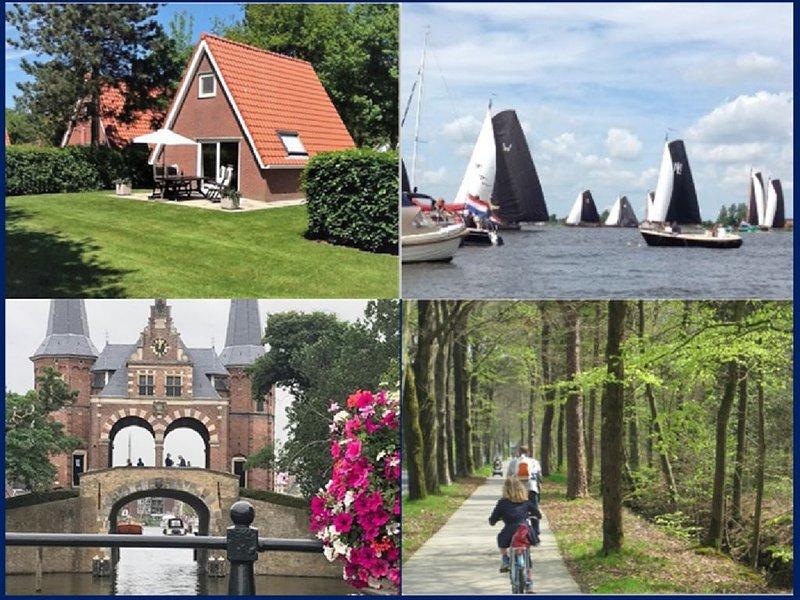 2-4 p. Knus vakantiehuisje met mooie privé tuin nabij Bos en Friese Meren, holiday rental in Heeg
