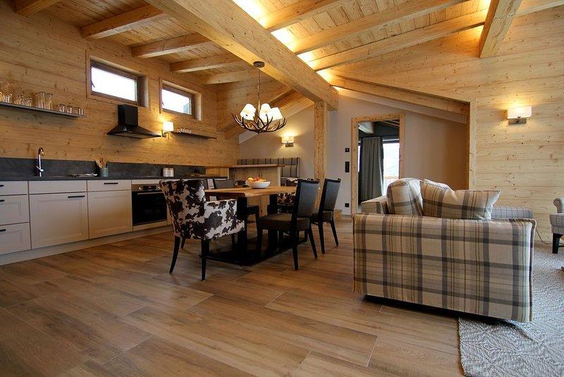 Hochwertiges Apartment mit Traumblick direkt an der Skipiste, aluguéis de temporada em Windau