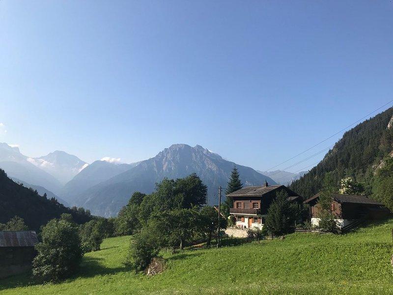 Chalet Kelchbach: Urlaub in den Walliser Bergen (Region Blatten-Belalp), holiday rental in Blatten bei Naters